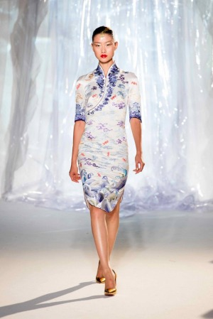 In-flight couture: Hainan Airlines' debuted its new cabin crew uniform in Paris in 2017.