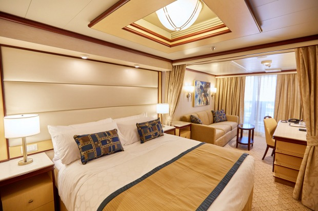 Deluxe balcony room on Majestic Princess.