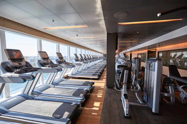 The gym on Majestic Princess.