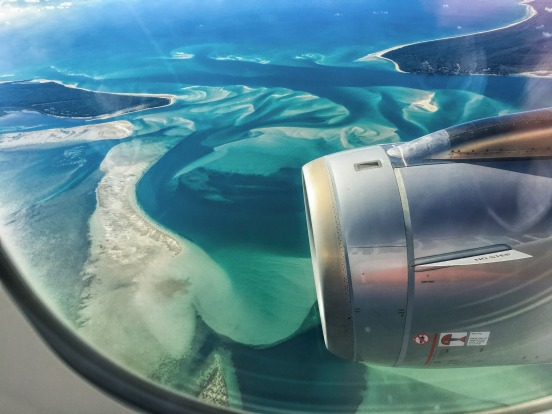 Just before landing in Brisbane, I was so impressed by the patterns and colours of the ocean...almost psychedelic.