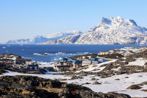 Nuuk and the Greenland ice sheet.
