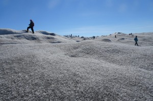 A walk on the Greenland ice sheet.