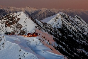 The Eagles Eye suite is Canada's highest hotel suite sitting high on top of the Purcell Mountains.