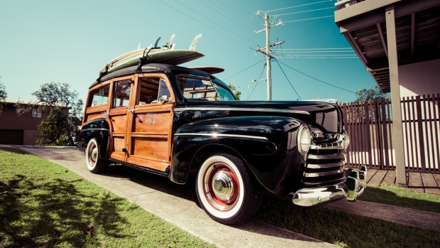 The eye-catching 1946 Ford Woody.