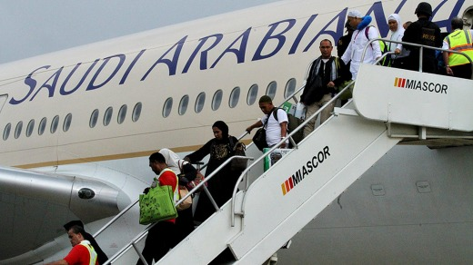 Saudi Arabian Airlines' passenger dress code has provoked outrage on social media.