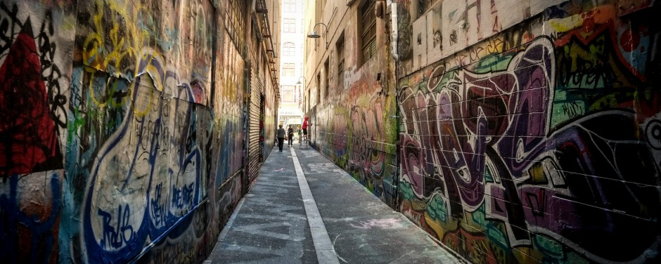 Melbourne laneways art before the Meeting of Styles, an internationally renowned graffiti and arts festival. 31 March ...
