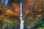 Multnomah Falls in autumn.