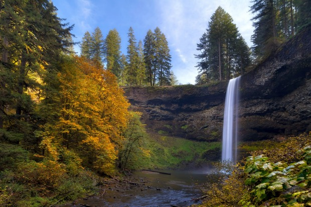 South Falls in Silver Falls State Park.
