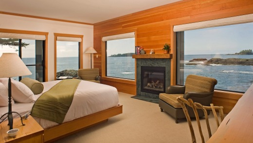 Wickaninnish Inn sits on a wild corner of Vancouver Island and is the place to be for storm watching.
