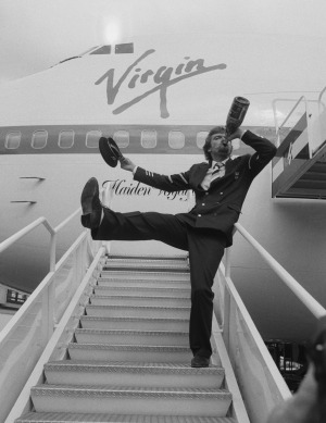 Drunken pilots were perfectly acceptable in the 80s. Not really, that's Richard Branson launching Virgin Atlantic in ...