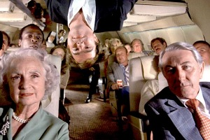 Flying rules were a little more relaxed in the 1980s, when comedy classic Flying High was released.