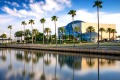 St. Petersburg, FL, USA - April 6, 2016: The exterior of the Salvador Dali Museum viewed from Tampa Bay. The museum ...