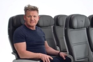 Gordon Ramsay makes an appearance in British Airways' new safety video in 2017.