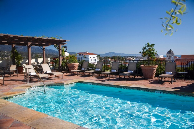 The Canary Hotel's rooftop pool