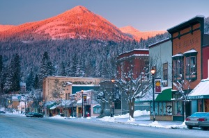 Located beneath Red Mountain Resort, the town of Rossland is still a real life monument to the gold rush era.