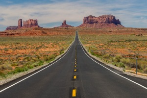 On cresting a hill on a drive across Utah we were awestruck by our first view of Monument Valley, home of the Navajos ...