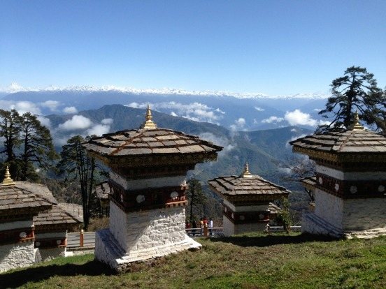 The magnificent natural vistas complement the impressive craftsmanship and built heritage of Bhutan