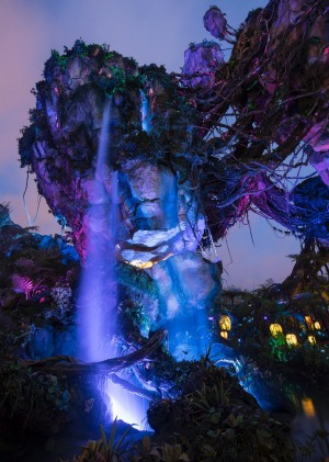The dramatic daytime beauty of the land transforms to glow by night when bioluminescent flora and intricate nighttime ...