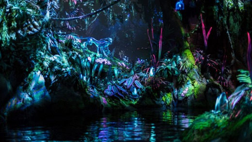 The Na'vi River Journey attraction on Pandora.