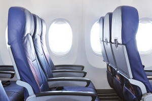 It's always a joy when you score an empty row on a plane... but not for this passenger.