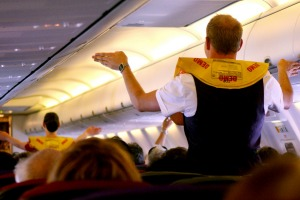 If an emergency happens once mid-air, flight attendants are trained to calmly brief passengers with emergency procedures ...