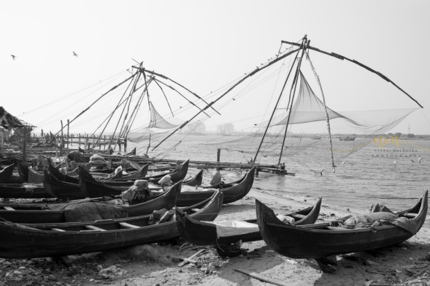 Found these Old Chinese Fishing Nets still in use at Fort Kochi, Kerala during our visit to India early this year - An ...