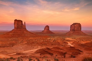Utah's Monument Valley at sunset.