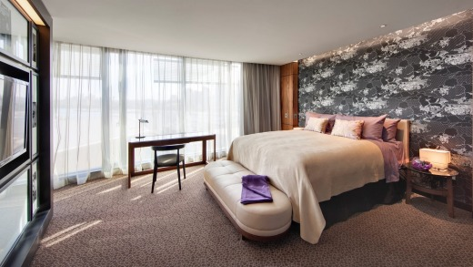 The king room is spacious and cleverly designed to accentuate that feeling.