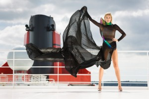 Queen Mary 2 provides the glamorous setting for Cunard's annual fashion fiesta.