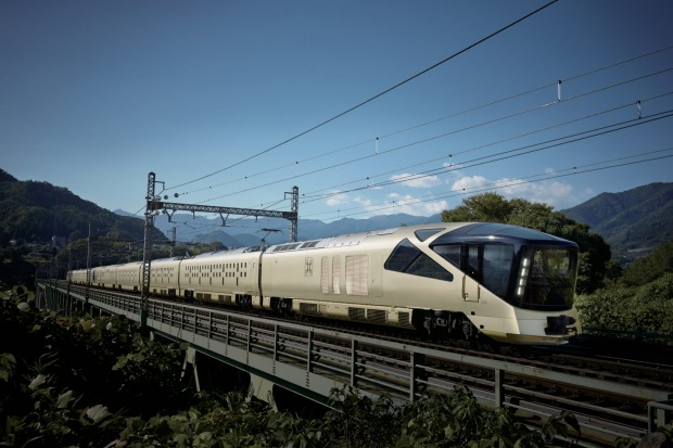 The champagne-gold exterior is something to behold, as many a Japanese trainspotter has already done. The Shiki-Shima ...