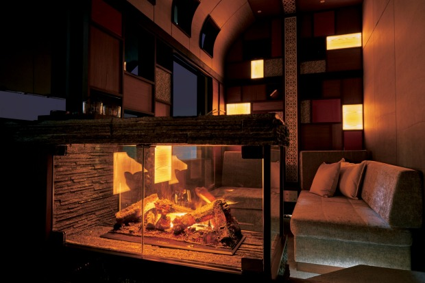 The suites on board variously include a working fireplace, a cypress wood bath and a loft.