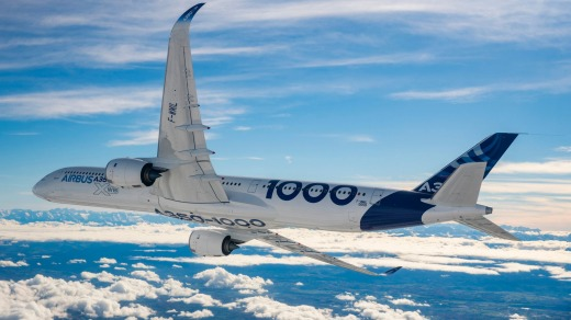 The Airbus A350 can fly for up to 370 minutes on a single engine.