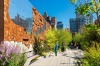 HIGH LINE, NEW YORK, UNITED STATES- Running above Manhattan's West Side, this 2.3-kilometre aerial greenway was ...