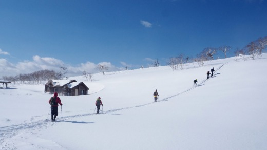 Hiking in Hokkaido's freezing temperatures.
