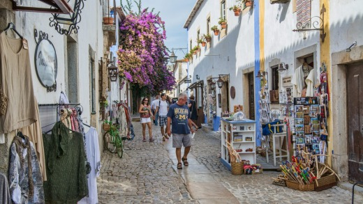 Obidos is an ancient medieval Portuguese village, from the 11th century, still inside castle walls.
