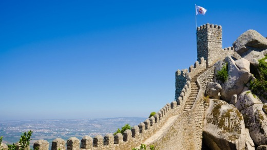 Castle of the Moors, also known as Castelo dos Mouros, in Sintra.