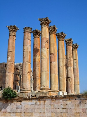 The Temple of Artemis at Jerash.