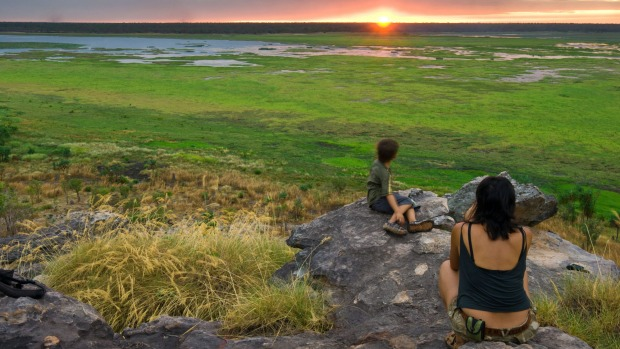Sunset from Ubirr overlooking the Nardab floodplain in Kakadu National Park.