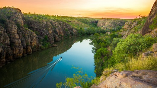 Katherine Gorge at sunset Cruise.