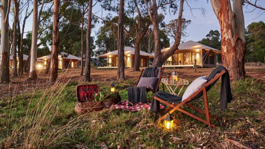 Go glamping at Olio Bello