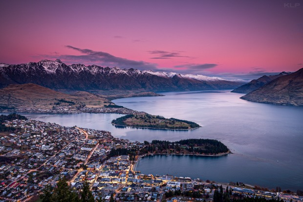 Standing atop the gondola deck in Queenstown, New Zealand there was a magical sunset glow. Looking over such a country ...