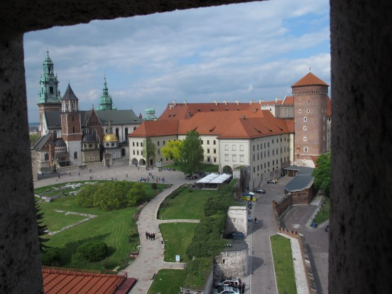 "This was taken from a tower in Wawel Castle, Krakow, Poland. Looking back on this photograph, I expected "" Shrek"" to ..."
