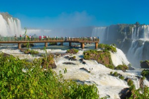 Devils Throat: On the border between Argentina and Brazil, stretching for 2.7 kilometres kms and higher than Niagara ...
