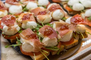 Parma ham and mozzarella.