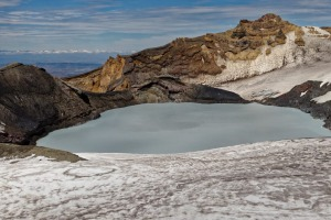 Crater lake, Mount Ruapehu.