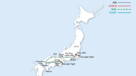 During the course of the 13-day tour, readers will be journeying to all corners of the main island of Honshu.