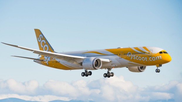 Scoot has seven of the B787-9 in service and a further three on order.