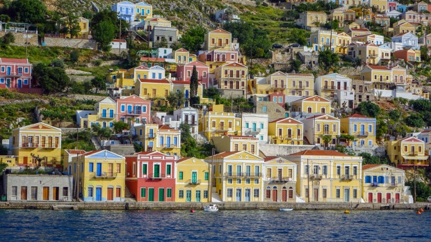 Symi, Greece. The Greek Islands are a good spot to visit during Europe's quiet season.