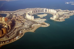 Doha from the air.