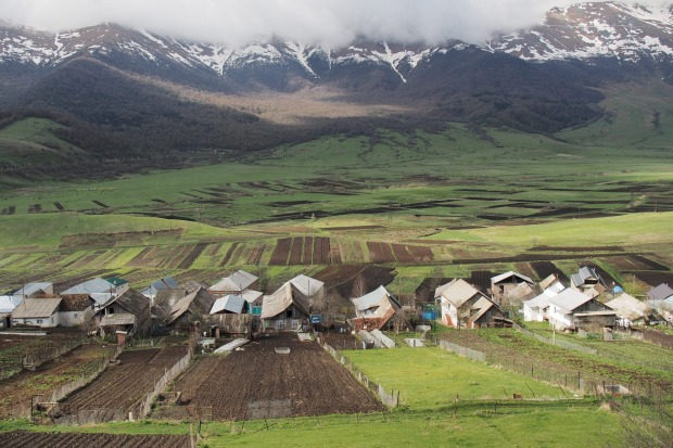 "A Molokan or ""Milk Drinkers"" village in the northern Armenian Caucasus.  A pacifist Christian sect, marrying only within ..."